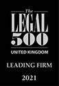 Legal 500 - Leading Firm 2021